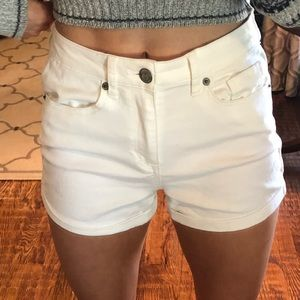 NWOT aeropostale high waisted white denim shorts